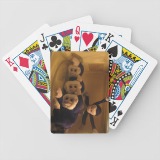 Dramatic Monkeys in the Microwave Bicycle Poker Cards