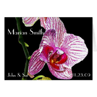 Dramatic Orchid  - Placecard Note Card