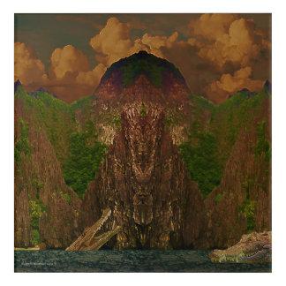 Dramatic Palawan's Mountains and Crocodiles Acrylic Wall Art