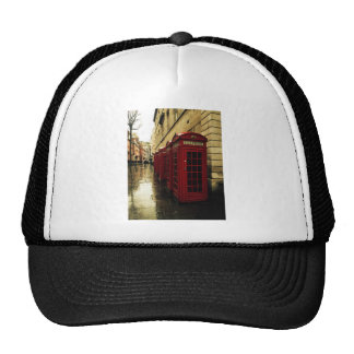 Dramatic phone boxes hats