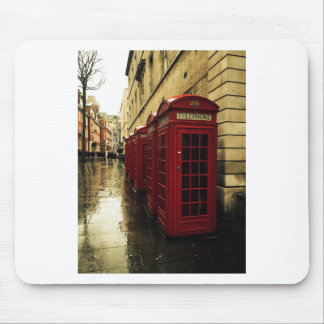 Dramatic phone boxes mouse pad