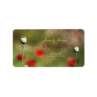 Dramatic Poppy Field Address Label