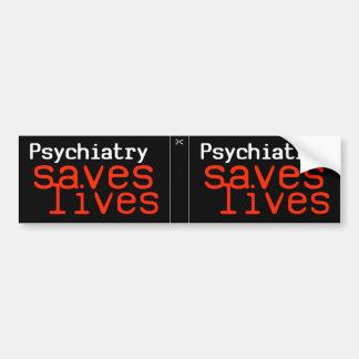 Dramatic Pro-Psychiatry Decal (2 in 1) Bumper Sticker