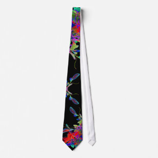 Dramatic Rainbow Floral Abstract Pop Art Designer Tie