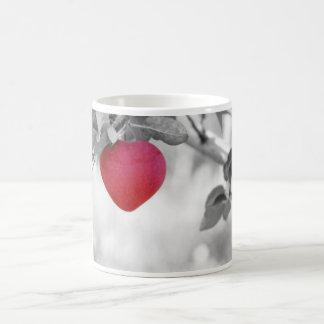Dramatic Red Heart Shaped Apple Coffee Mug