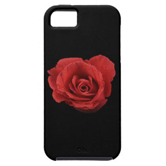 Dramatic red rose on black velvet background iPhone 5 cover
