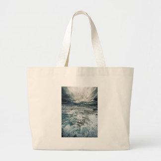 Dramatic Seas Large Tote Bag