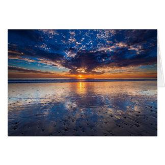 Dramatic seascape, sunset, CA Card