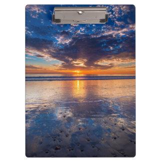 Dramatic seascape, sunset, CA Clipboard