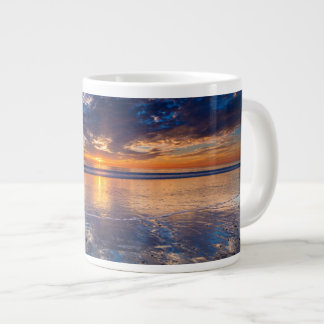 Dramatic seascape, sunset, CA Large Coffee Mug
