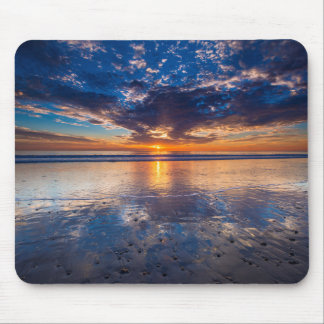 Dramatic seascape, sunset, CA Mouse Pad