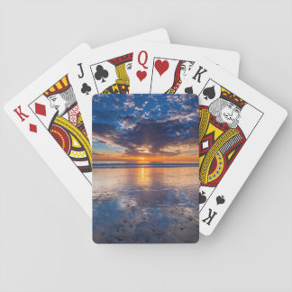 Dramatic seascape, sunset, CA Playing Cards