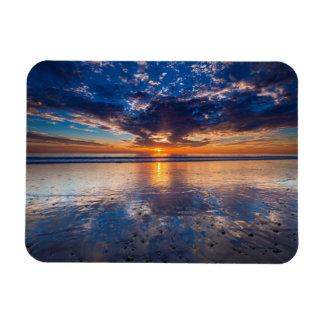 Dramatic seascape, sunset, CA Rectangular Photo Magnet