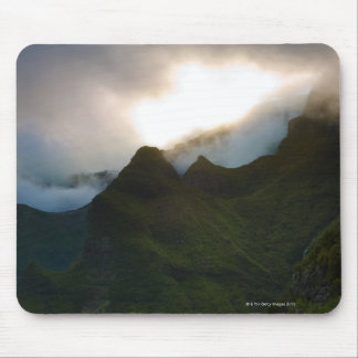 dramatic sky above the central mountains of the mouse pad