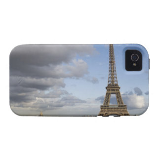 dramatic sky behind Eiffel Tower iPhone 4 Covers