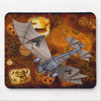 Dramatic Steampunk Mousepad In Golds & Browns