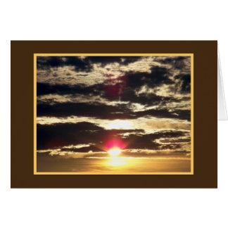 Dramatic Sunrise at the Ocean Card