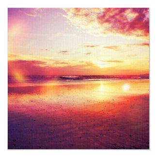 Dramatic sunset 13 cm x 13 cm square invitation card