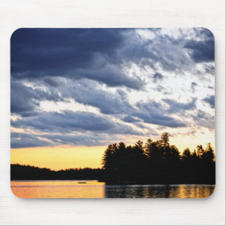 Dramatic sunset at lake mousepad