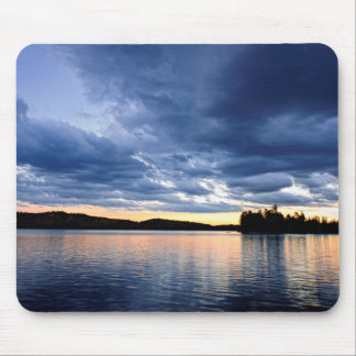 Dramatic sunset at lake mouse pads