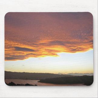 Dramatic Sunset over lake Mousepad