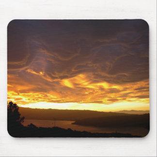 Dramatic Sunset over lake Mousepads