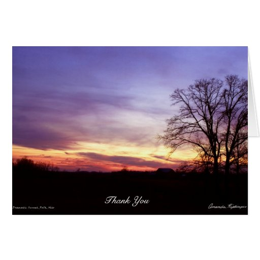 Dramatic Sunset-Thank You Card