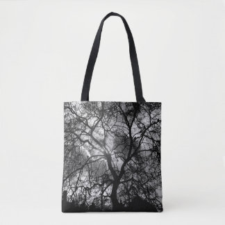 Dramatic Tree Silhouette Tote Bag