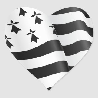 Drapeau breton (Breton flag) Heart Sticker