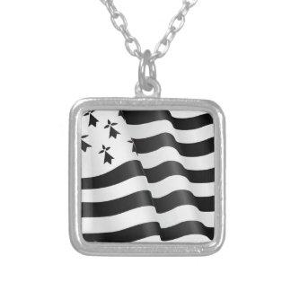 Drapeau breton (Breton flag) Silver Plated Necklace
