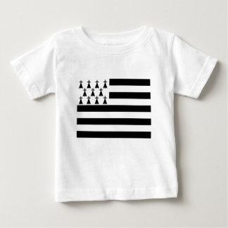 Drapeau de la Bretagne Breizh Gwenn ha Du Britanny Baby T-Shirt
