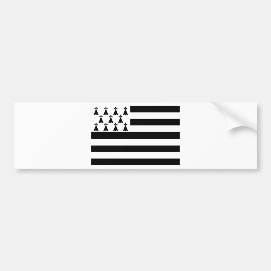Drapeau de la Bretagne Breizh Gwenn ha Du Britanny Bumper Sticker