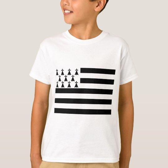 Drapeau de la Bretagne Breizh Gwenn ha Du Britanny T-Shirt