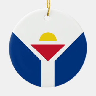 Drapeau de Saint Martin - Flag of Saint Martin Ceramic Ornament