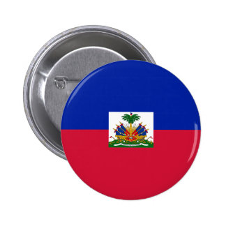 Drapeau d'Haïti - Flag of Haiti 6 Cm Round Badge