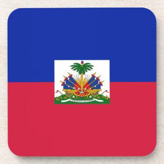 Drapeau d'Haïti - Flag of Haiti Beverage Coaster