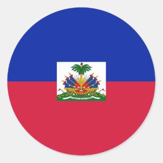 Drapeau d'Haïti - Flag of Haiti Round Sticker