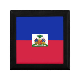 Drapeau d'Haïti - Flag of Haiti Small Square Gift Box