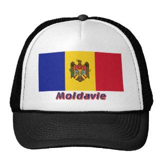 Drapeau Moldavie avec le nom en français Mesh Hat