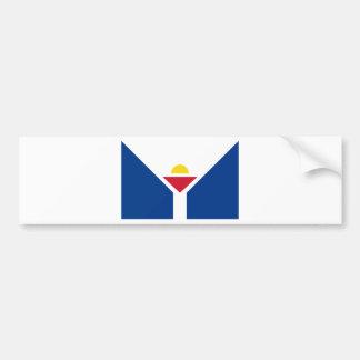 Drapeau of Saint Martin - Flag of Saint Martin Bumper Sticker