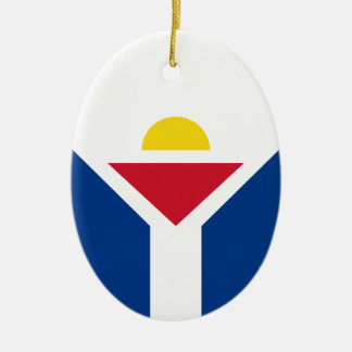 Drapeau of Saint Martin - Flag of Saint Martin Ceramic Ornament
