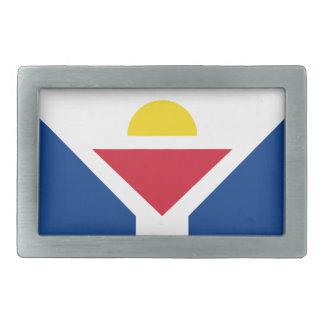 Drapeau of Saint Martin - Flag of Saint Martin Rectangular Belt Buckles