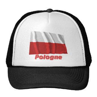 Drapeau Pologne avec le nom en français Hat