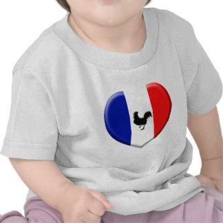 Drapeaux France coils cock Tee Shirt