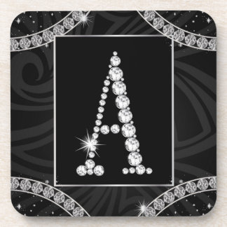 Draped In Diamonds - Initial A Coaster