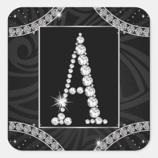 Draped In Diamonds - Initial A Sticker