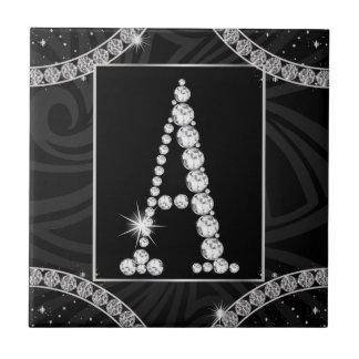 Draped In Diamonds - Initial A Tile