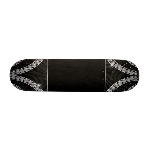 Draped In Diamonds Custom Skateboard