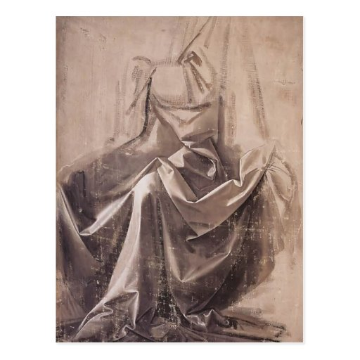 Drapery for a seated figure by Leonardo da Vinci Postcard