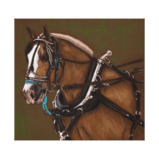 Draught   horse portrait canvas print